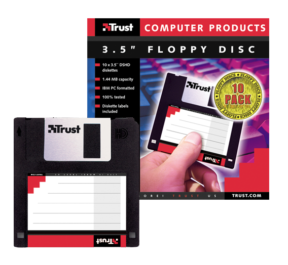 """3.5"""" Floppy Disc 10-pack-VisualPackage"""