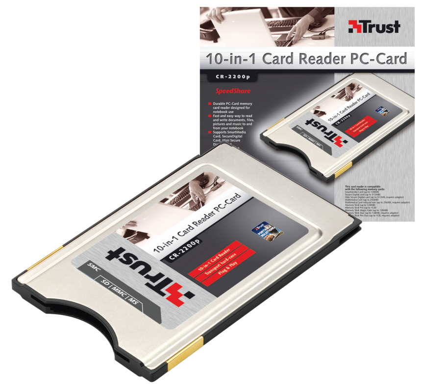 10-in-1 Card Reader PC-Card CR-2200p-VisualPackage