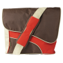 """15.4"""" Street Style Messenger Bag - brown/red-Front"""