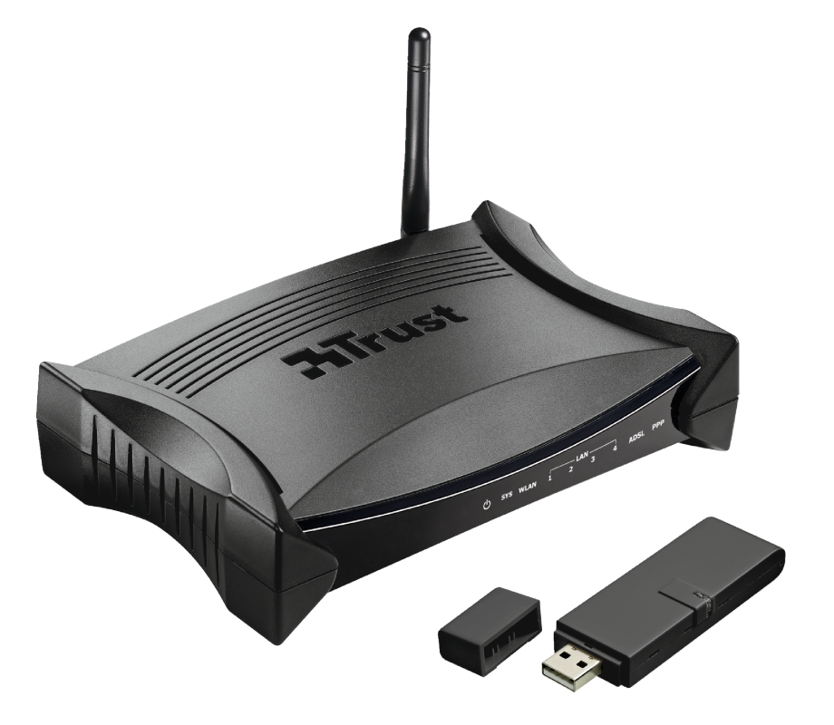 Wireless ADSL2+ Modem-Router & USB Adapter MD-5800-Visual