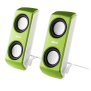 Portable Notebook Speakers - Lime Green-Visual