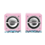 CUBE Portable Notebook Speakers - Pink-Front