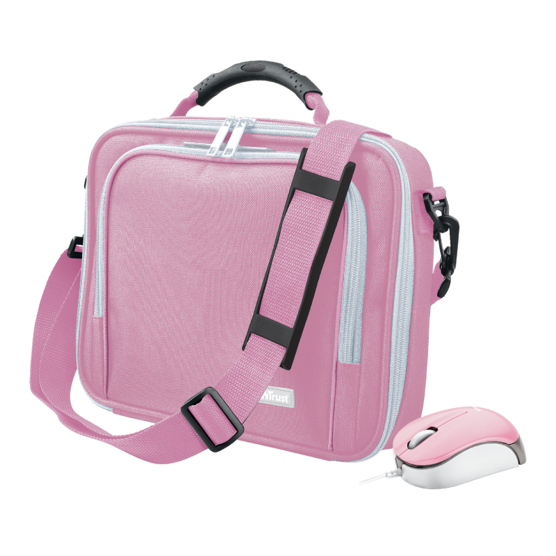"""10"""" Netbook Bag with mouse - pink-Visual"""
