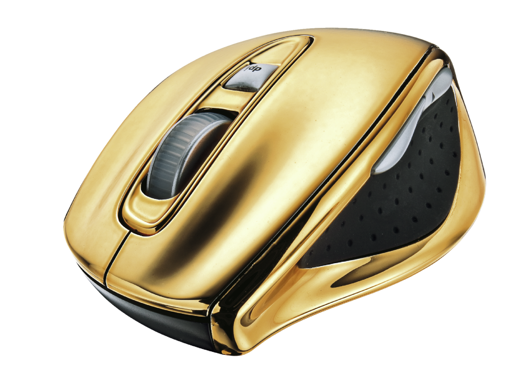 Vegas Wireless Laser Mouse - gold-Visual