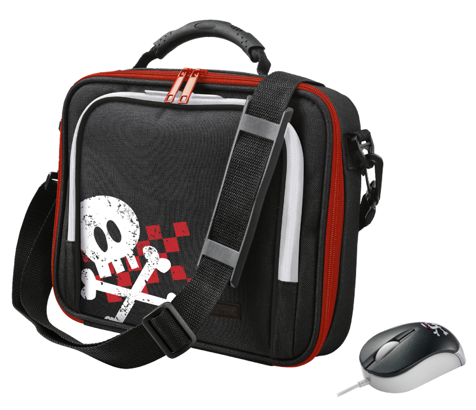 """Pirate 10"""" Netbook Carry Bag & Micro Mouse-Visual"""