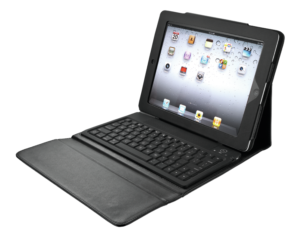 Folio Stand with Bluetooth keyboard for iPad-Visual