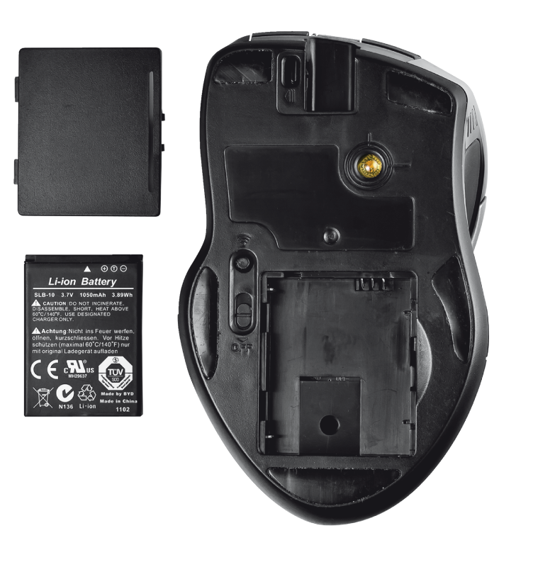 GXT 35 Wireless Laser Gaming Mouse-Bottom