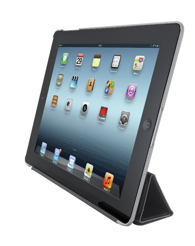 Smart Case & Stand for iPad - black-Visual