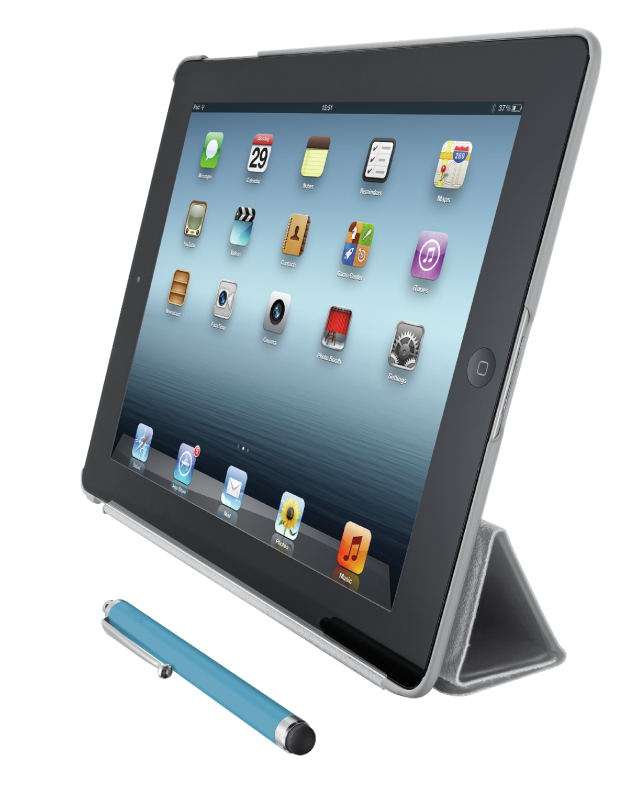 Smart Case & Stand with stylus for iPad-Visual