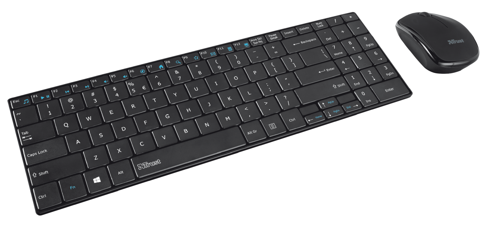 Gusy Wireless Ultra-thin Keyboard with mouse-Visual