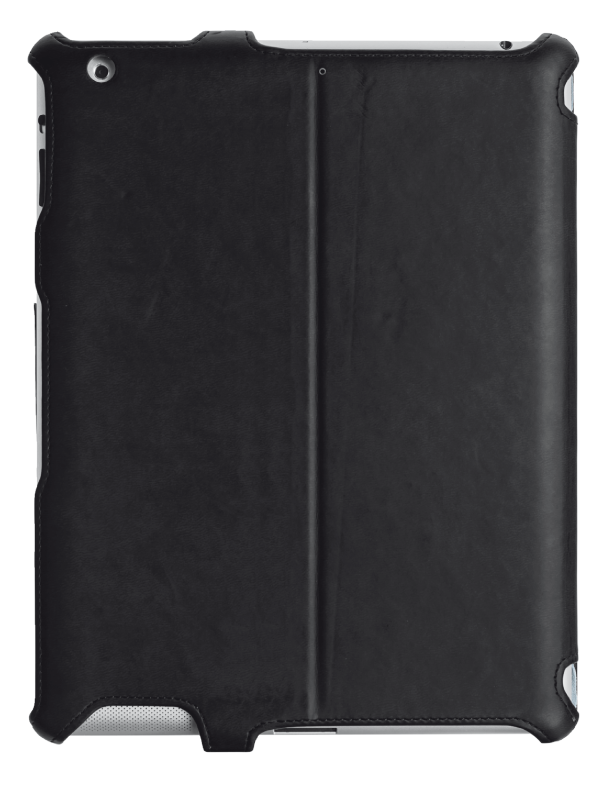Hardcover Skin & Folio Stand for iPad mini with stylus pen-Back
