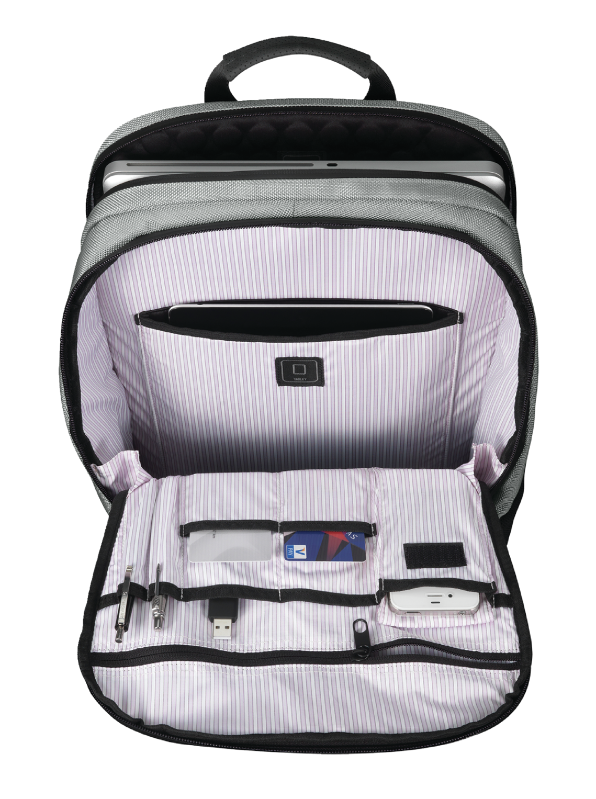 """16"""" Backpack - silver flamengo-Front"""