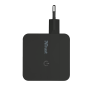 12W Wall Charger with 2 USB ports - black-Side