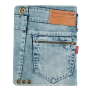 Jeans Folio Stand for iPad-Back