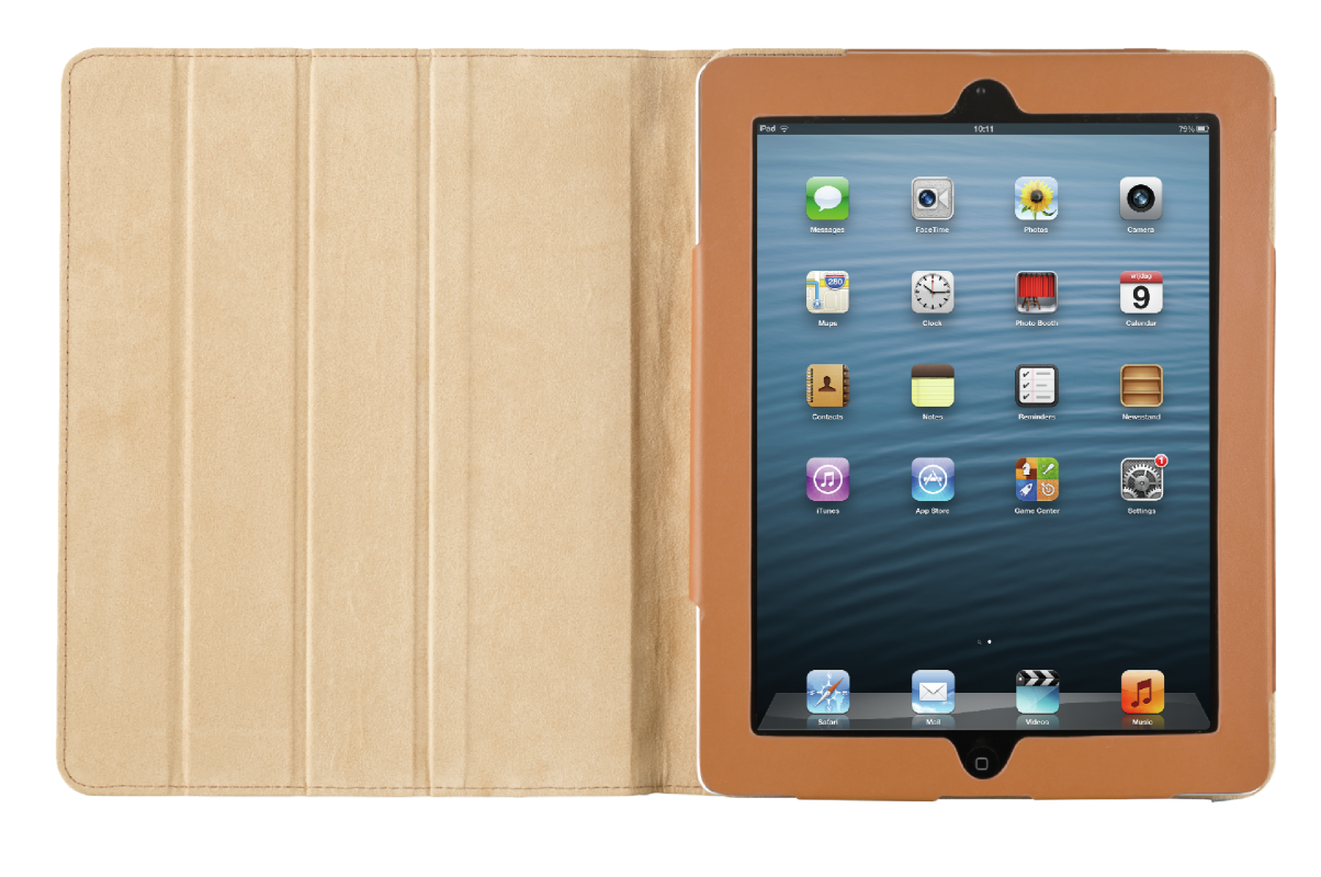 Jeans Folio Stand for iPad-Front