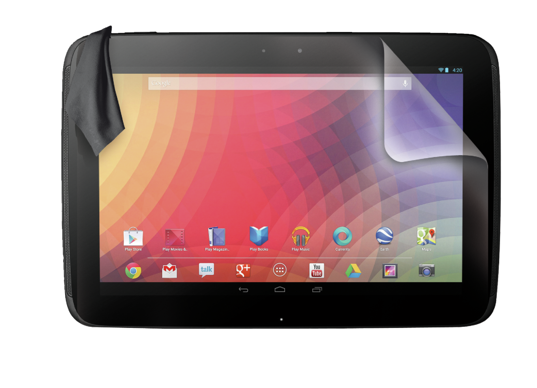 Screen Protector 2-pack for Google Nexus 10-Front