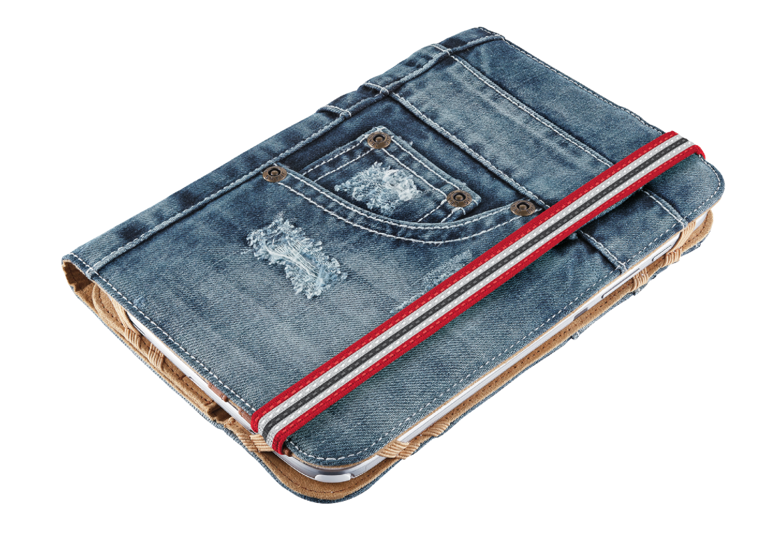 """Jeans Folio Stand for 7-8"""" tablets - blue denim-Visual"""