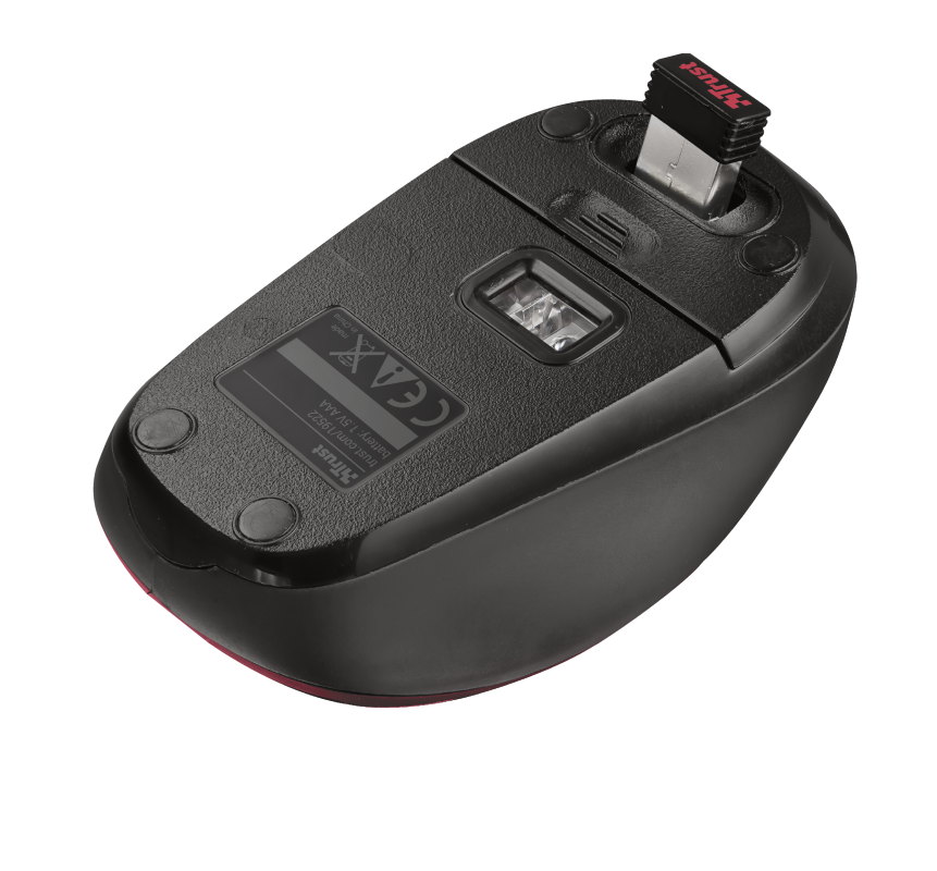 Yvi Wireless Mouse - red-Bottom