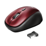 Yvi Wireless Mouse - red-Visual
