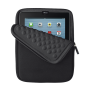 Anti-shock Bubble Sleeve for 10'' tablets - black-Front