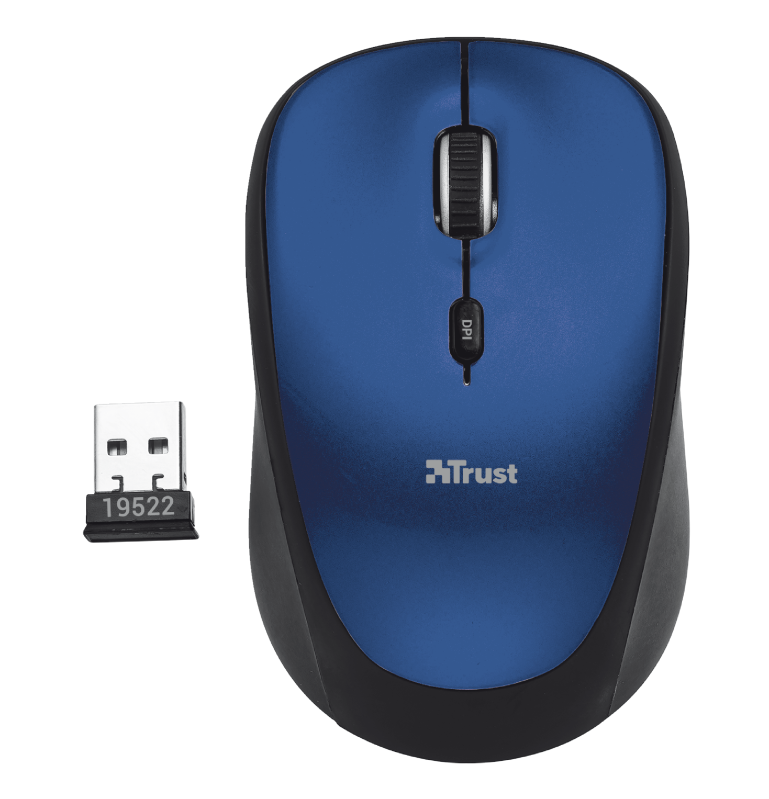 Yvi Wireless Mouse - blue-Top