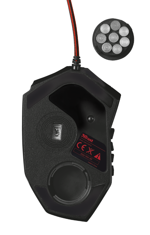 GXT 166 MMO Gaming Laser Mouse-Bottom