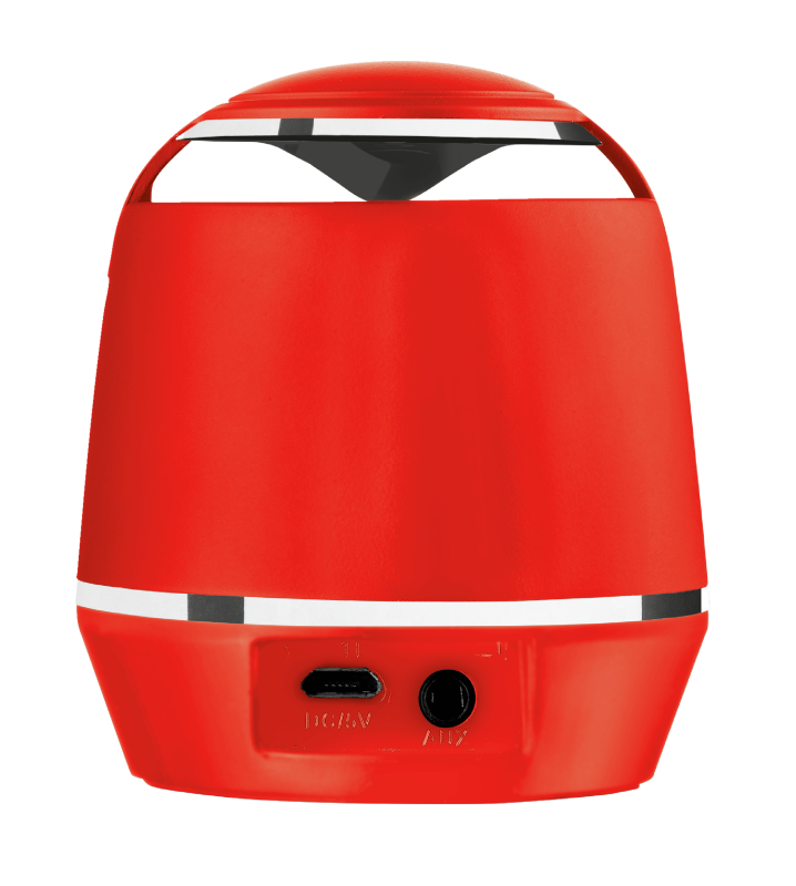 Vybe Bluetooth Wireless Speaker - red-Back