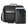 """16"""" Laptop bag incl. carbon-look sleeve for 10"""" tablets-Visual"""