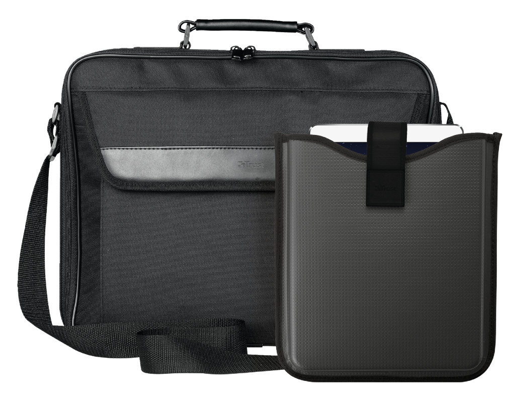 """16"""" Laptop bag incl. hardcover sleeve for 10"""" tablets-Visual"""
