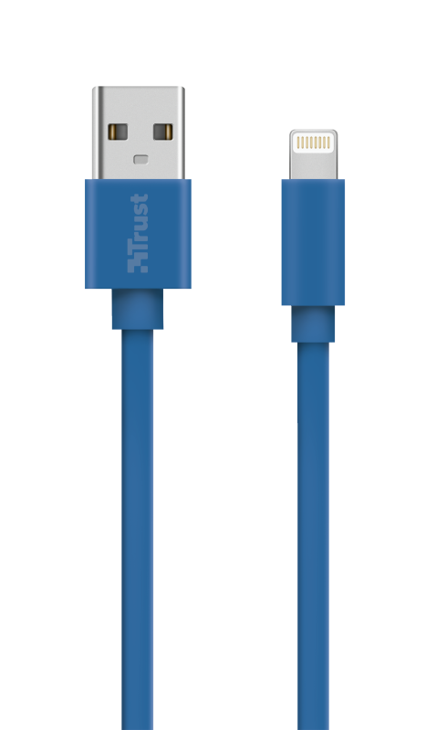 Flat Lightning Cable 1m - blue-Top