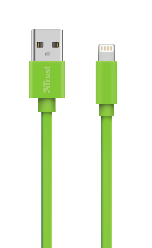 Flat Lightning Cable 1m - green-Top