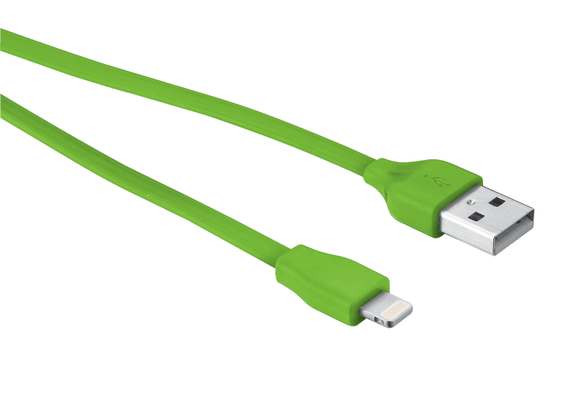 Flat Lightning Cable 20cm - lime green-Visual