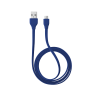 Flat Micro-USB Cable 1m - blue-Top