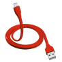 Flat Micro-USB Cable 1m - red-Visual