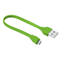 Flat Micro-USB Cable 20cm - lime green-Visual
