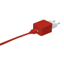 5W Wall Charger - red-Visual
