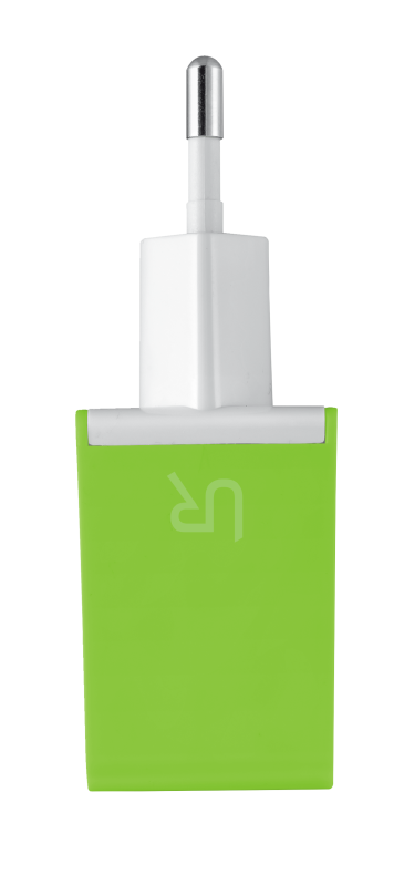 5W Wall Charger - lime green-Side