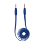 Flat Audio Cable 1m - blue-Top