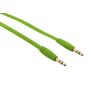 Flat Audio Cable 1m - lime green-Visual