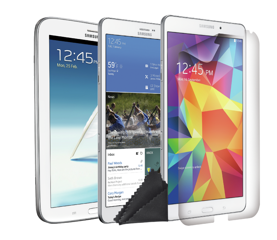 """Screen Protector 2-pack for 8-8.4"""" Samsung tablets-Visual"""