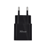 5W Wall USB Charger with Lightning cable - black-Top
