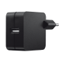 12W Wall USB Charger with Lightning cable - black-Visual