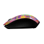 Ovi Wireless Ultra Small Mouse - pink flower power-Side