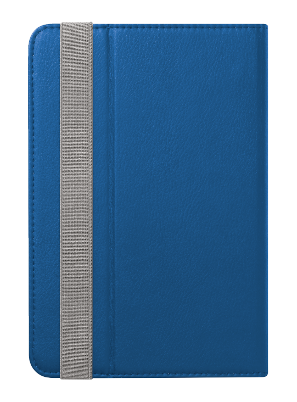 """Primo Folio Case with Stand for 7-8"""" tablets - blue-Back"""