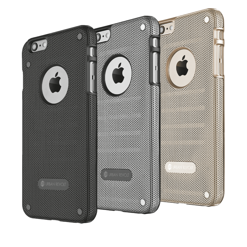 Endura Grip & Protection case for iPhone 6 Plus - silver-Family