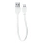 Flat Lightning Cable 20cm - white-Top