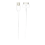 30-pin Flat Cable 1m - white-Top