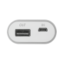Cinco PowerBank 5200 Portable Charger - grey/white-Front