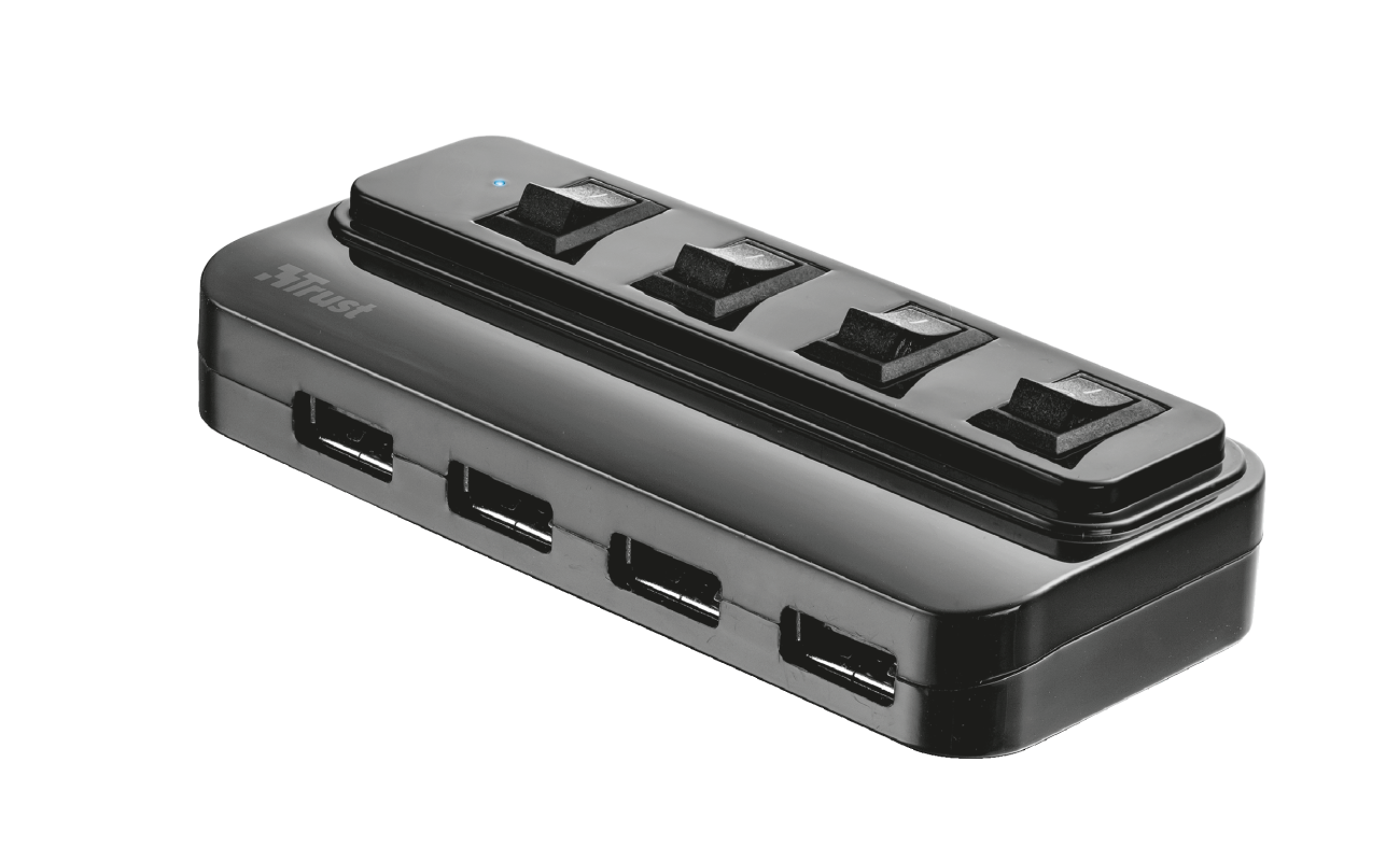 4 Port USB 2.0 Hub with switches-Visual