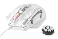 Trust com - GXT 155W Caldor Gaming Mouse - white camouflage